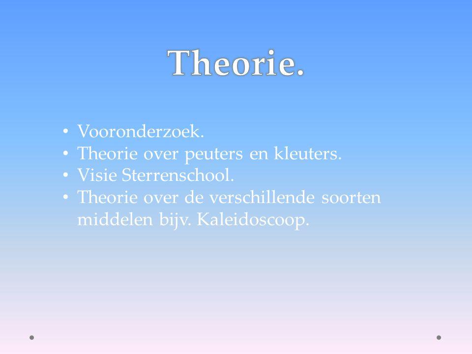 Vooronderzoek. Theorie over peuters en kleuters. Visie Sterrenschool.
