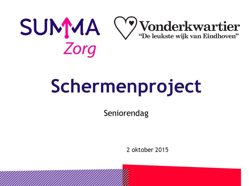 Schermenproject Seniorendag 2 oktober 2015