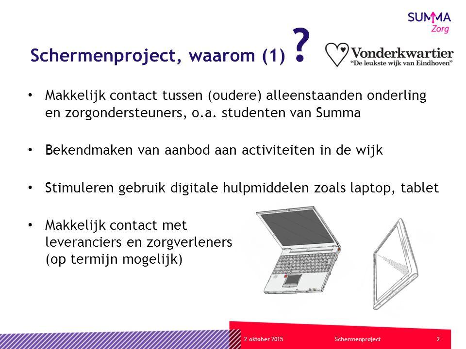 32 oktober 2015Schermenproject Schermenproject, waarom (2) .
