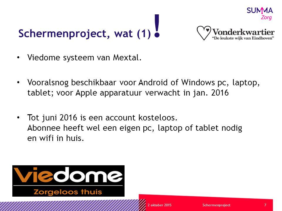 72 oktober 2015Schermenproject Schermenproject, wat (1) .