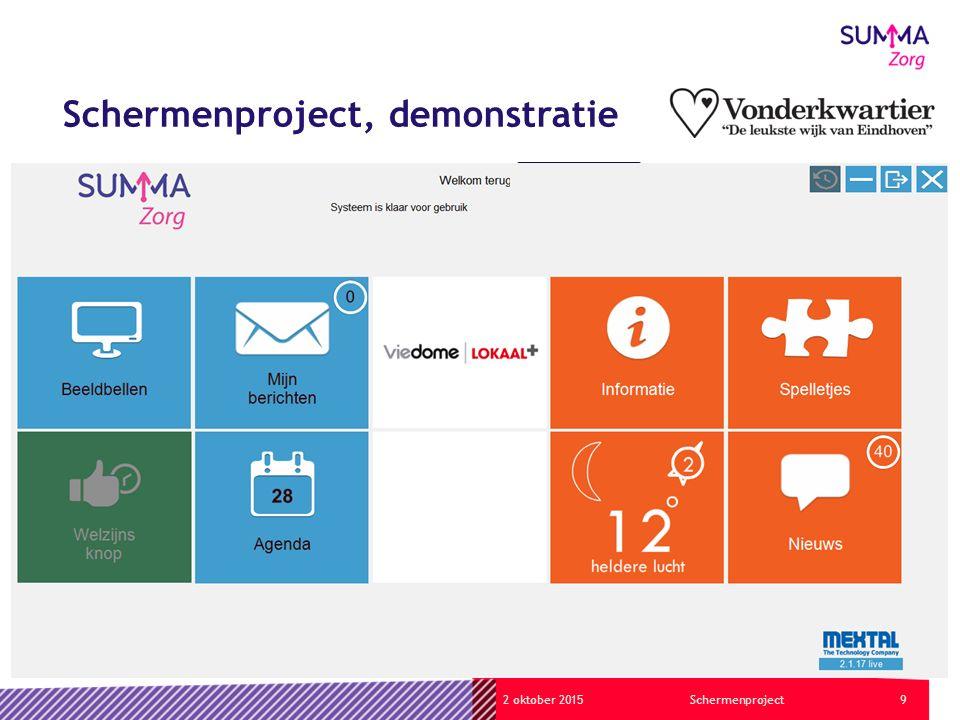 92 oktober 2015Schermenproject Schermenproject, demonstratie