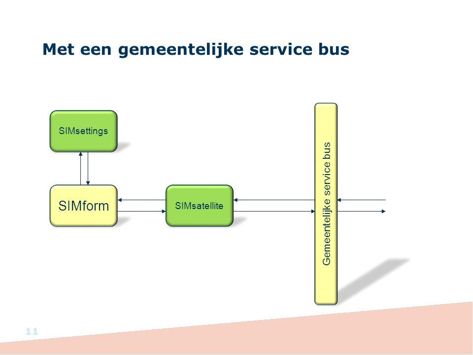 Met een gemeentelijke service bus 11 SIMform SIMsettings SIMsatellite Gemeentelijke service bus