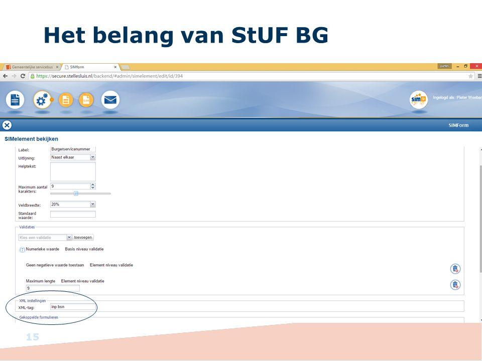 Het belang van StUF BG 15