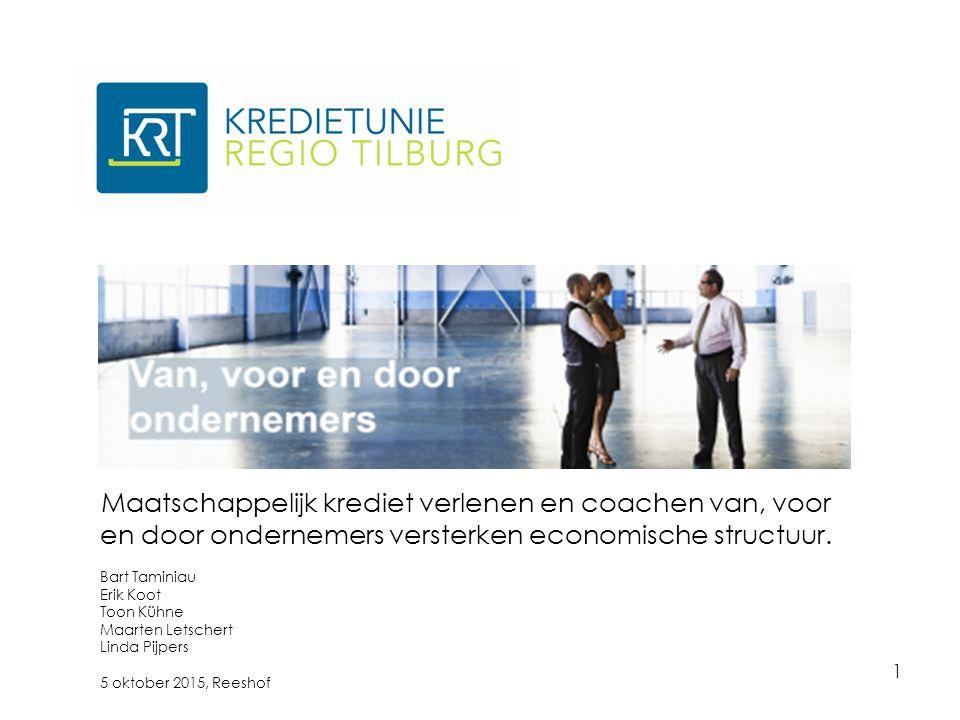 1 Maatschappelijk krediet verlenen en coachen van, voor en door ondernemers versterken economische structuur.