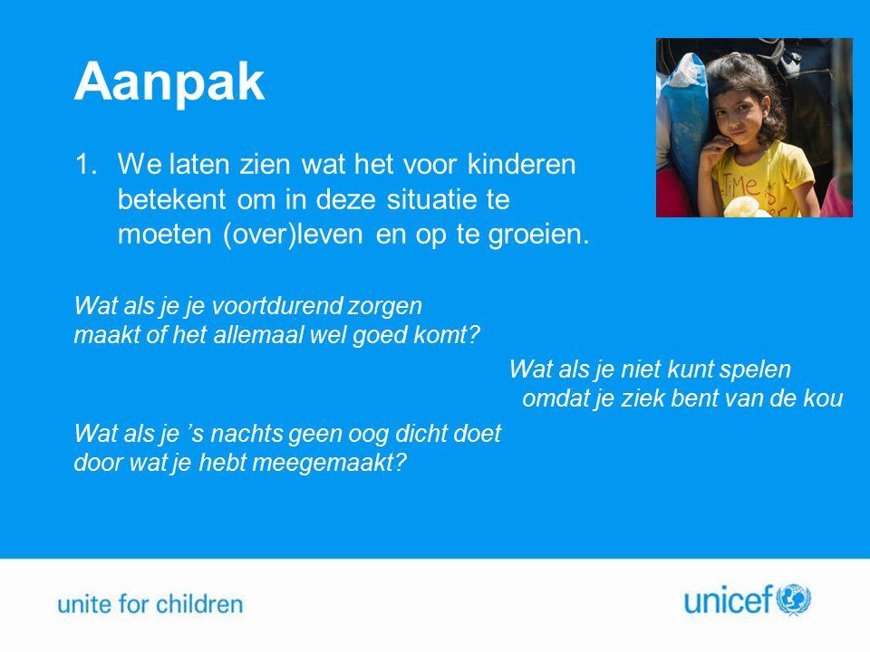 Aanpak 2.We roepen het Nederlandse publiek op een emoji te sms'en naar 4333 waardoor je op een manier die luchtig, visueel en helemaal van nu is, kunt helpen.