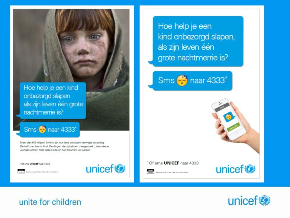 Bouwstenen DoelSteun voor het werk van UNICEF voor kinderen in Syrië en omringende landen in de vorm van zoveel mogelijk sms jes.