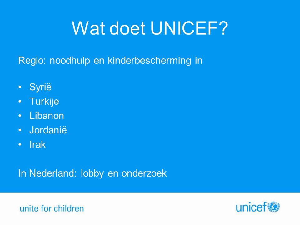 Wat doet UNICEF.