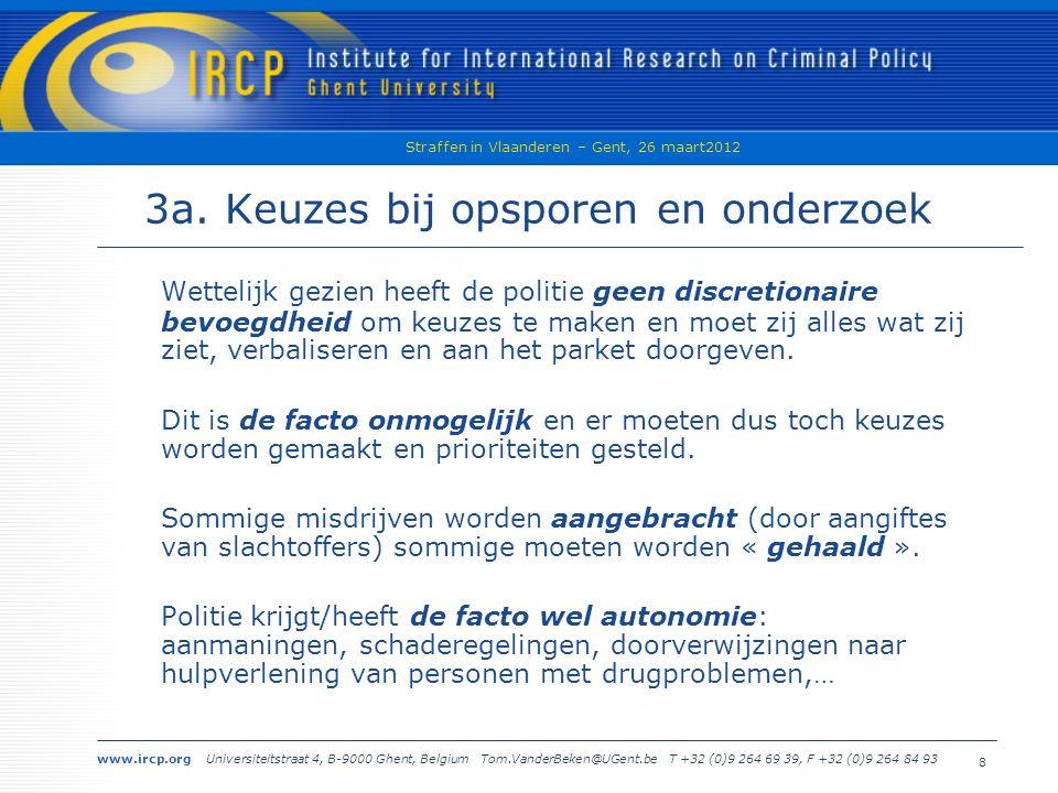 www.ircp.org Universiteitstraat 4, B-9000 Ghent, Belgium Tom.VanderBeken@UGent.be T +32 (0)9 264 69 39, F +32 (0)9 264 84 93 Straffen in Vlaanderen – Gent, 26 maart2012 8 3a.