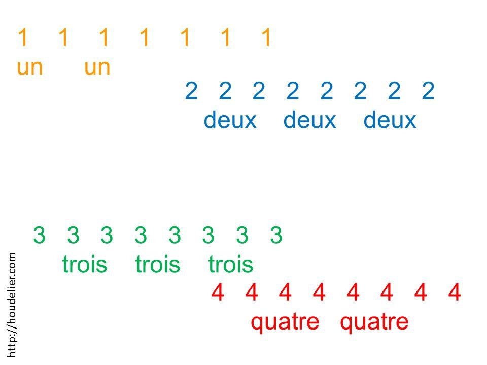 1 1 1 1 1 1 1 un un 2 2 2 2 deux deux deux 3 3 3 3 trois trois trois 4 4 4 4 quatre quatre http://houdelier.com