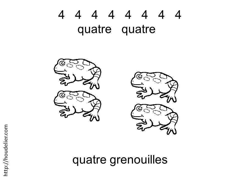 4 4 4 4 quatre quatre quatre grenouilles http://houdelier.com
