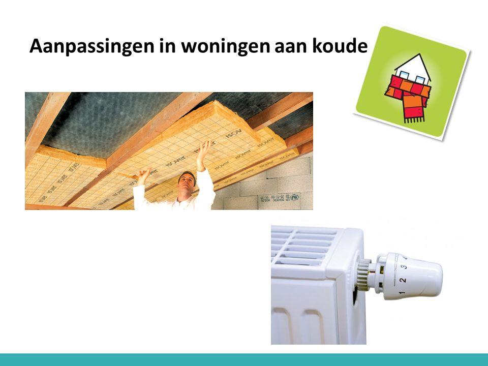 Aanpassingen in woningen aan koude