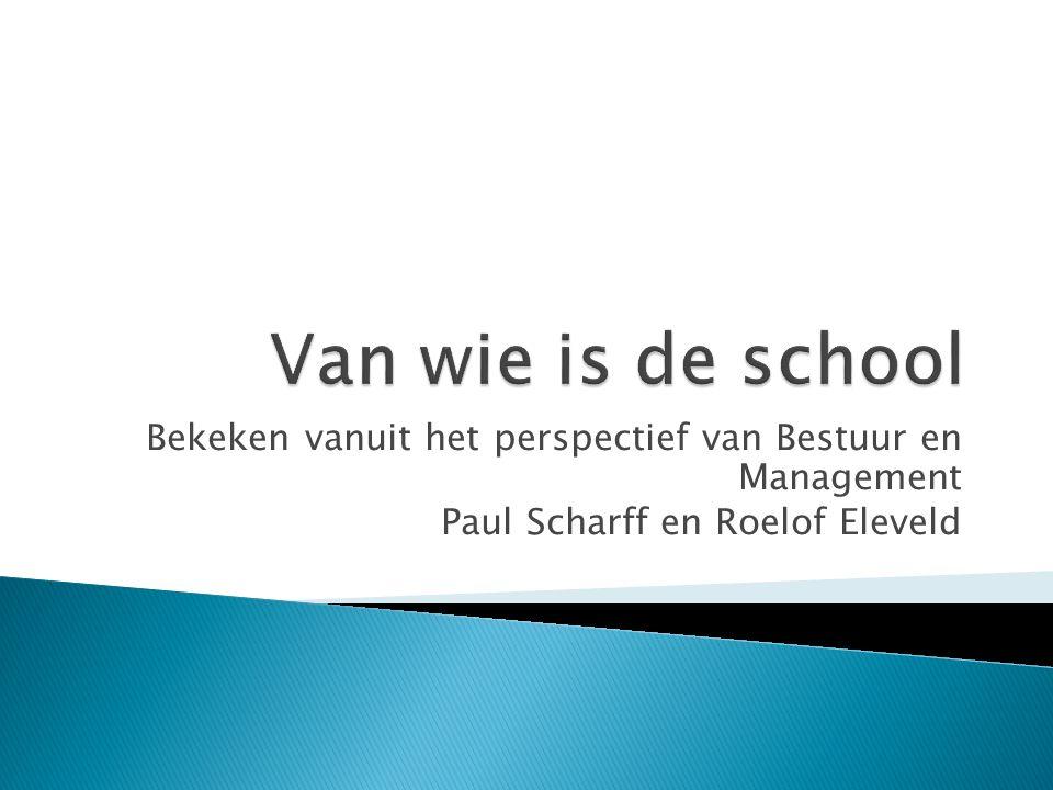 Bekeken vanuit het perspectief van Bestuur en Management Paul Scharff en Roelof Eleveld