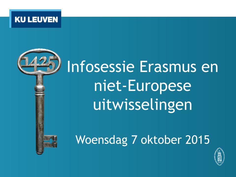 Infosessie Erasmus en niet-Europese uitwisselingen Woensdag 7 oktober 2015