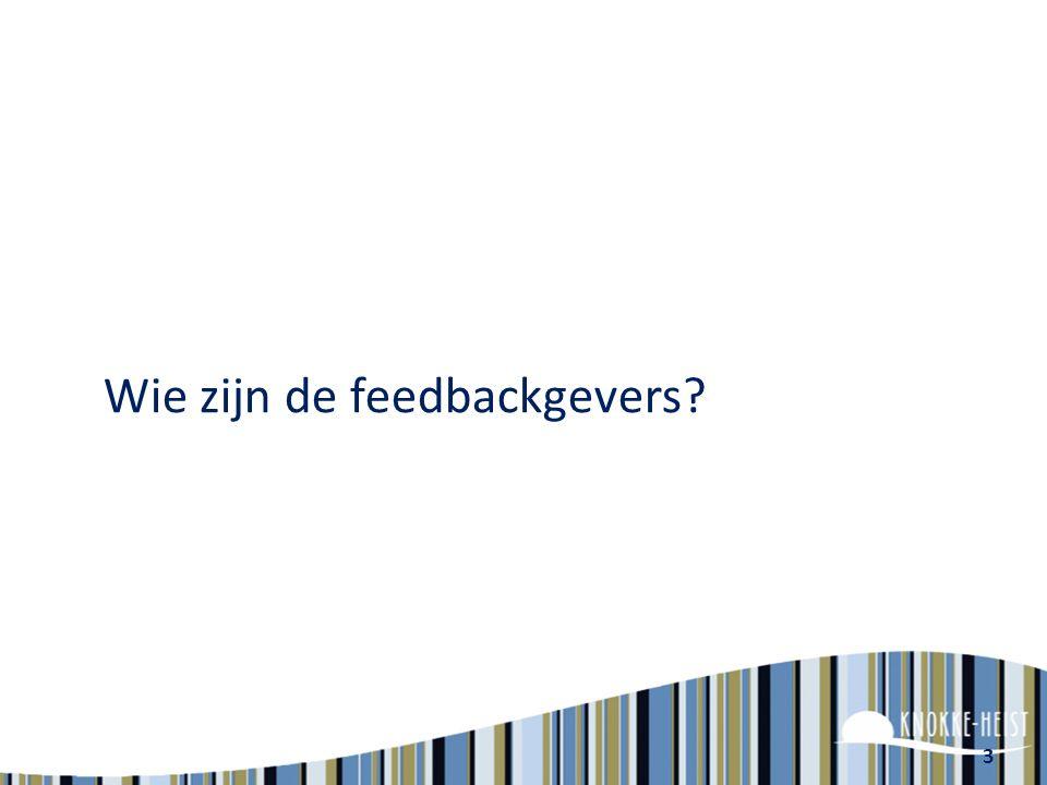 3 Wie zijn de feedbackgevers?