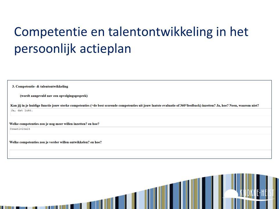 Competentie en talentontwikkeling in het persoonlijk actieplan