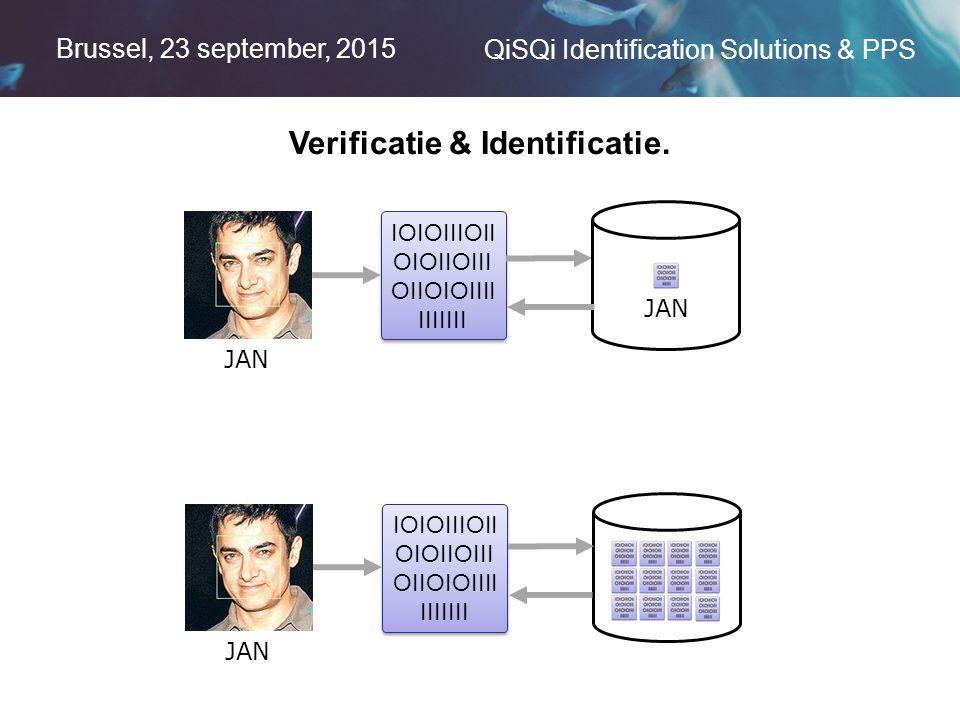 Brussel, 23 september, 2015 QiSQi Identification Solutions & PPS Verificatie & Identificatie.