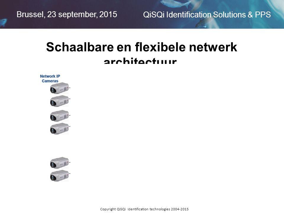 Brussel, 23 september, 2015 QiSQi Identification Solutions & PPS Copyright QiSQi Identification technologies 2004-2015 Schaalbare en flexibele netwerk architectuur.