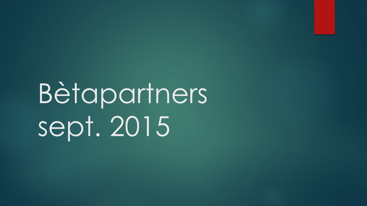 Bètapartners sept. 2015