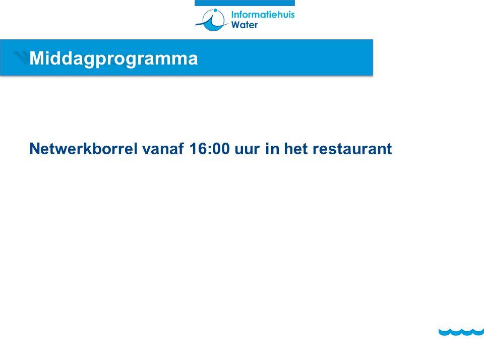 Middagprogramma Netwerkborrel vanaf 16:00 uur in het restaurant