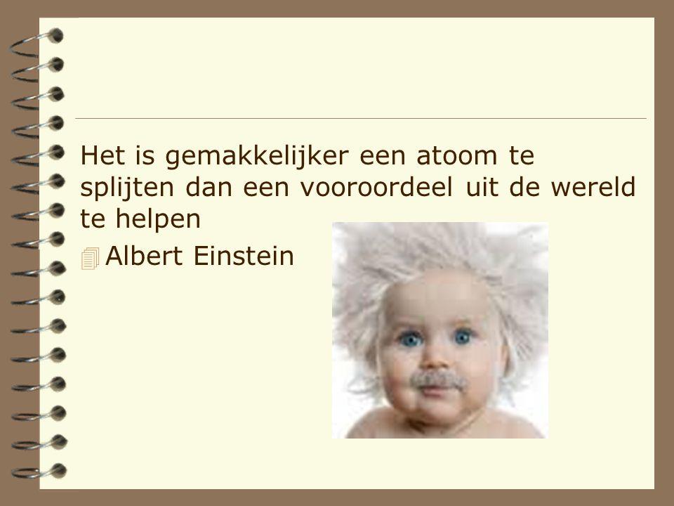 Het is gemakkelijker een atoom te splijten dan een vooroordeel uit de wereld te helpen 4 Albert Einstein