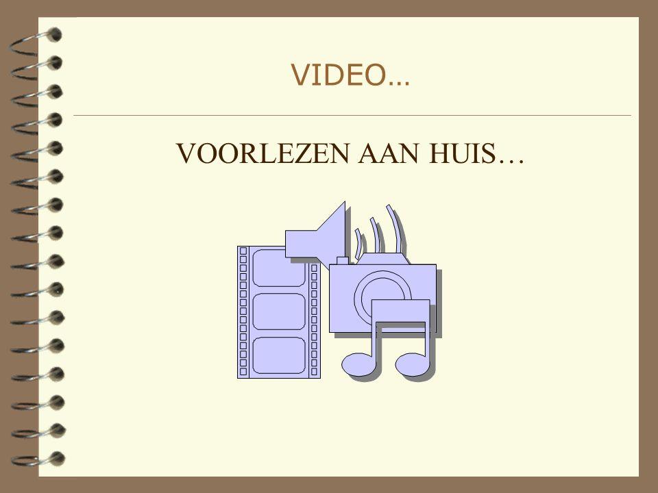 VIDEO… VOORLEZEN AAN HUIS…