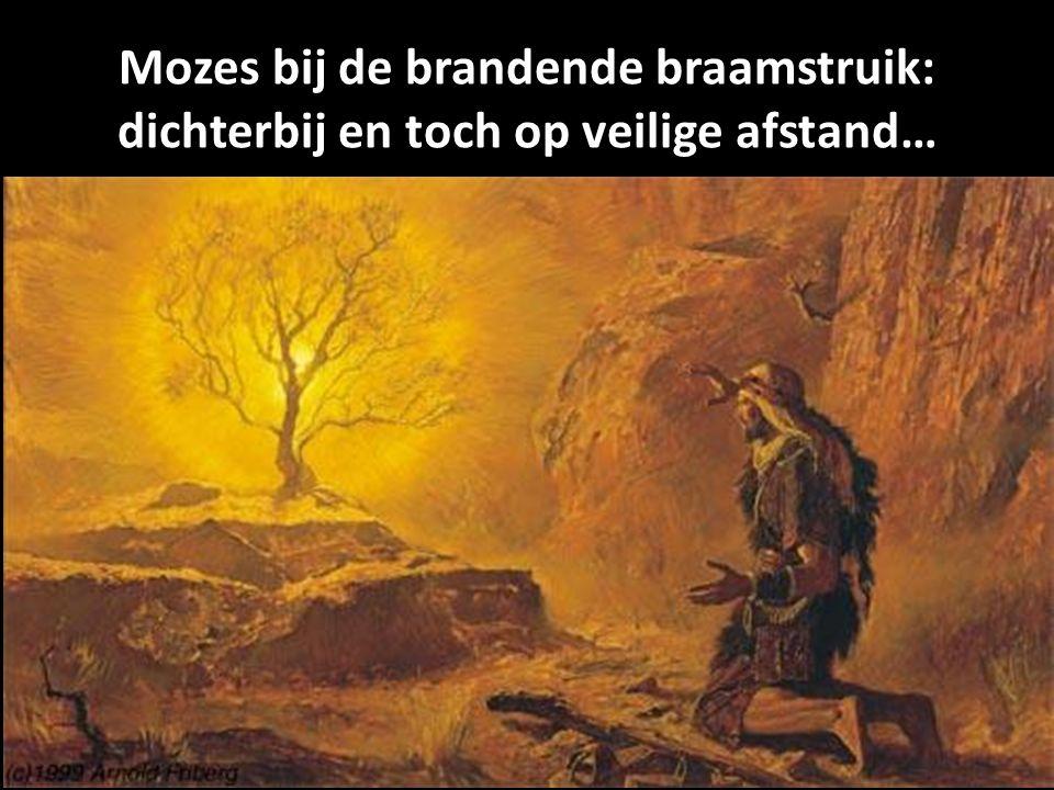Mozes bij de brandende braamstruik: dichterbij en toch op veilige afstand…