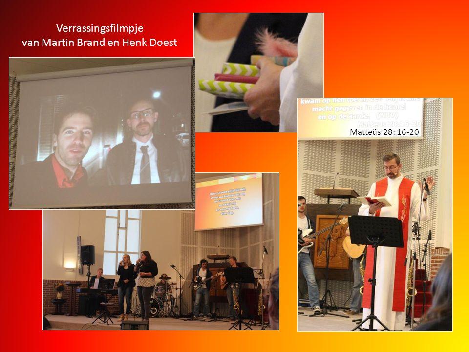 Verrassingsfilmpje van Martin Brand en Henk Doest Matteüs 28: 16-20