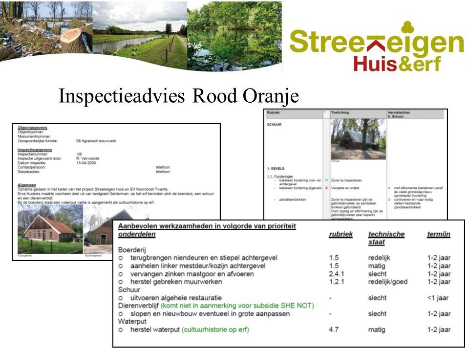 Inspectieadvies Rood Oranje