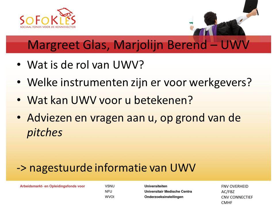 Margreet Glas, Marjolijn Berend – UWV Wat is de rol van UWV? Welke instrumenten zijn er voor werkgevers? Wat kan UWV voor u betekenen? Adviezen en vra
