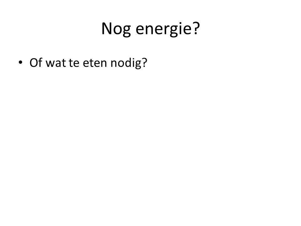 Nog energie? Of wat te eten nodig?