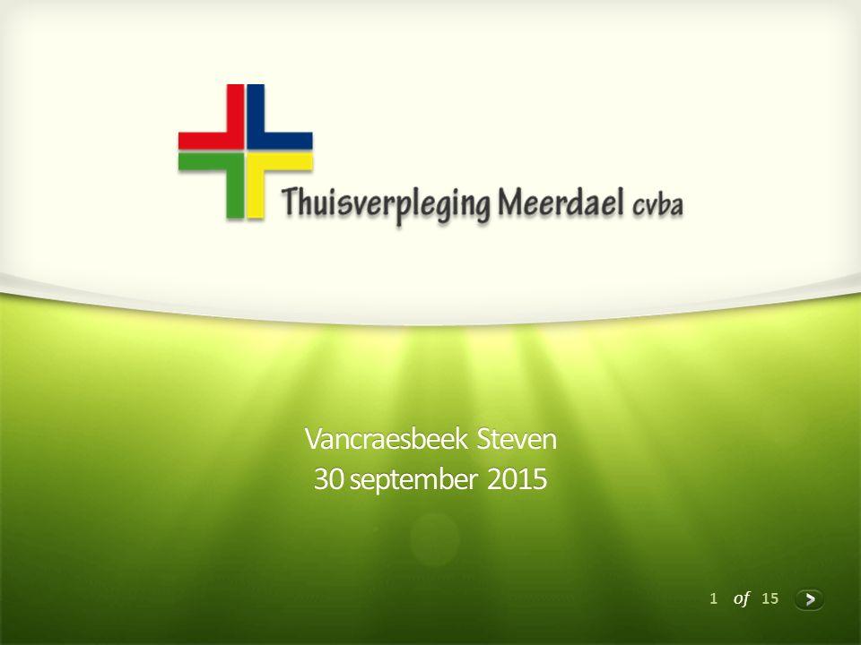 1 of 15 Vancraesbeek Steven 30 september 2015