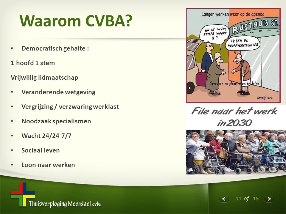 11 of 15 Waarom CVBA.