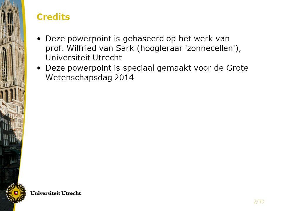 Credits Deze powerpoint is gebaseerd op het werk van prof.