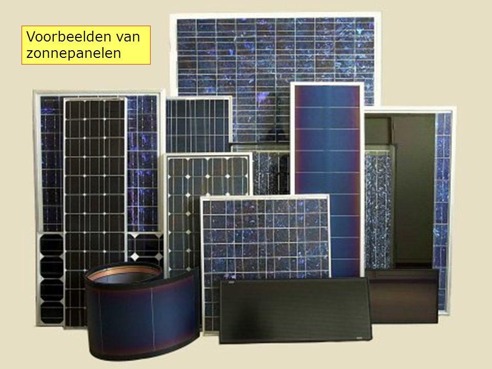 Voorbeelden van zonnepanelen