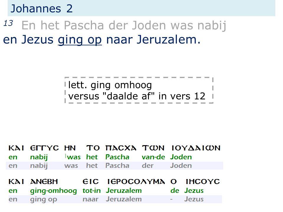 Johannes 2 13 En het Pascha der Joden was nabij en Jezus ging op naar Jeruzalem.