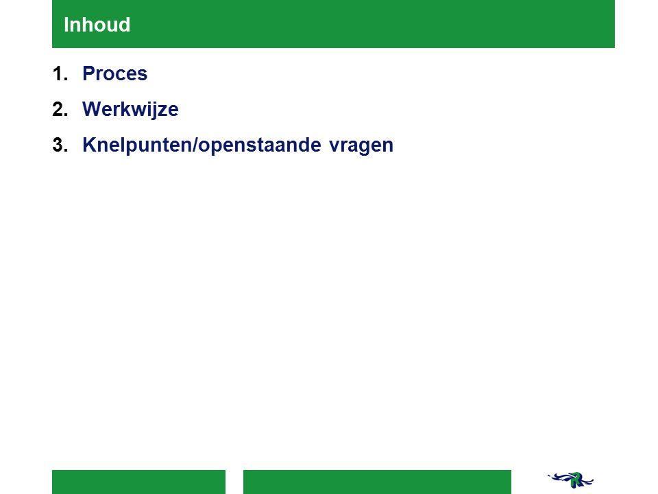 1.Proces - start Eind 2014 vragen gaan stellen: Gesloten plaatsingen in vrijwillig kader.