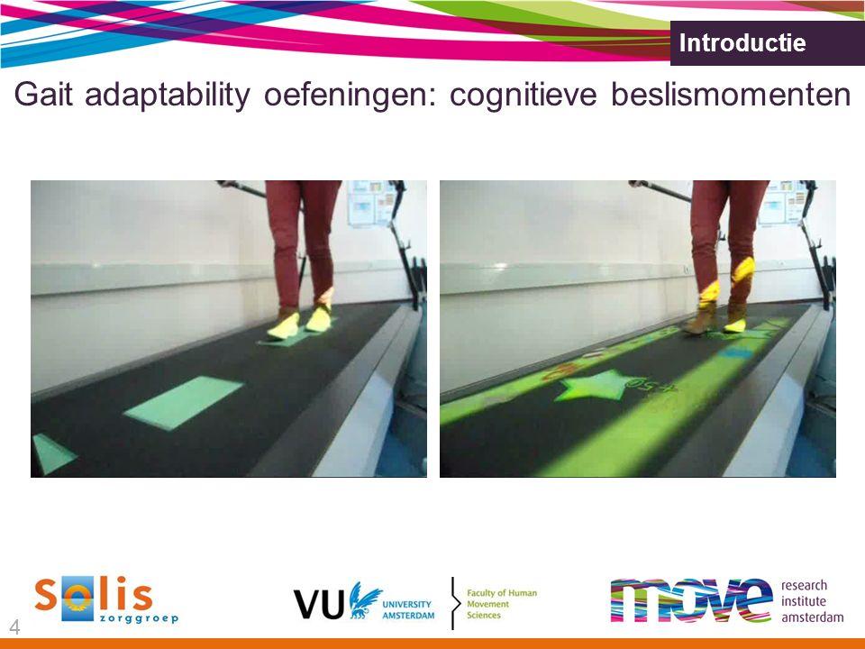 Introductie Gait adaptability oefeningen: cognitieve beslismomenten 4