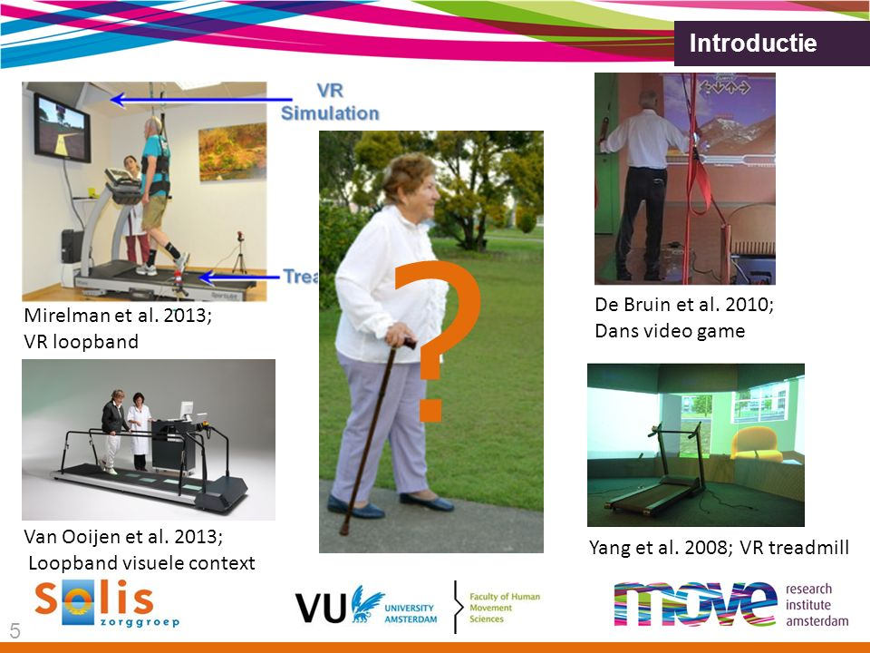 Introductie Mirelman et al.2013; VR loopband De Bruin et al.