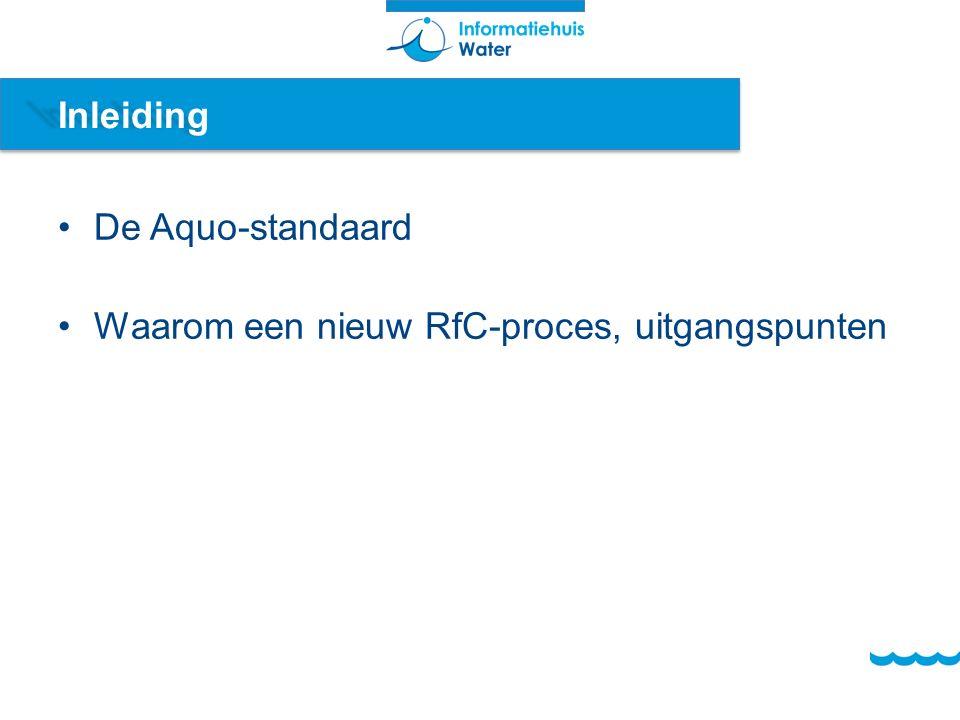 Inleiding De Aquo-standaard Waarom een nieuw RfC-proces, uitgangspunten