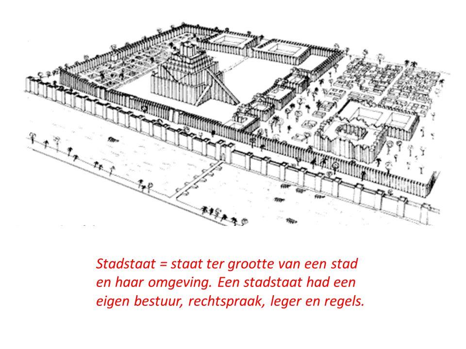 De Isjtar-poort van de stadstaat Babylon.