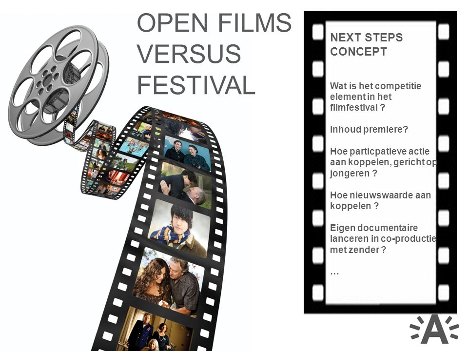 NEXT STEPS CONCEPT Wat is het competitie element in het filmfestival .