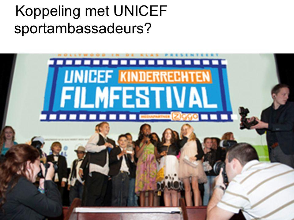 Koppeling met UNICEF sportambassadeurs?