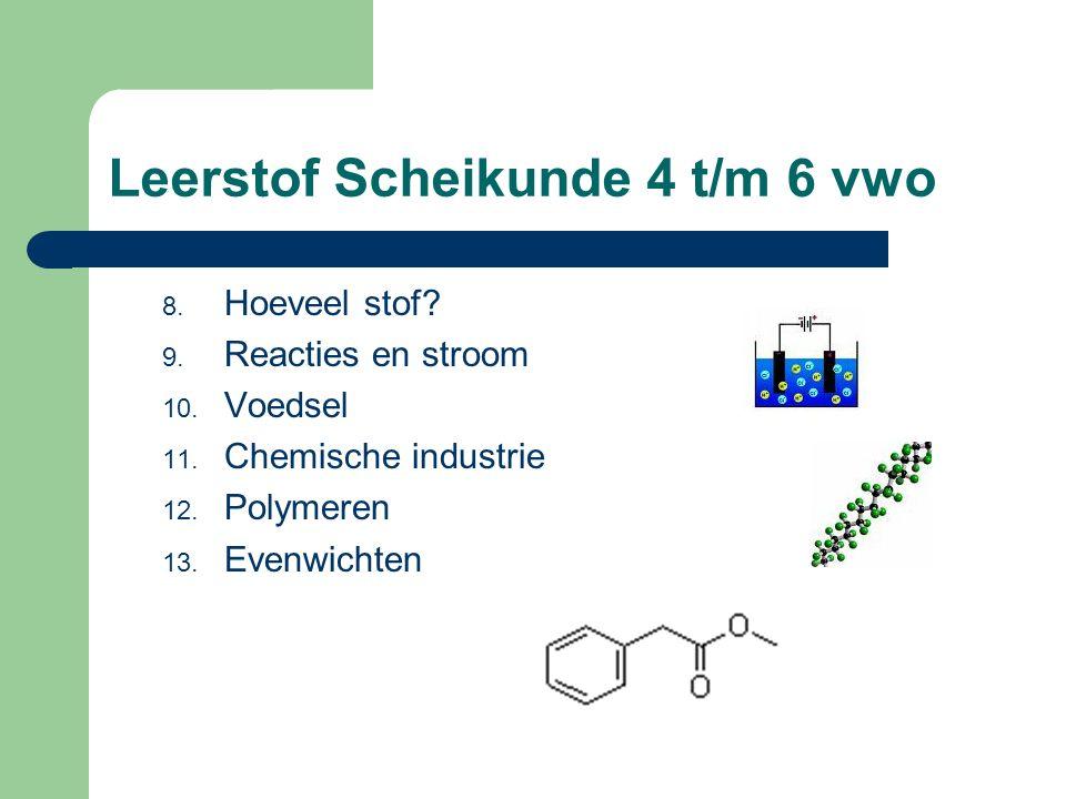 Leerstof Scheikunde 4 t/m 6 vwo 8.Hoeveel stof. 9.