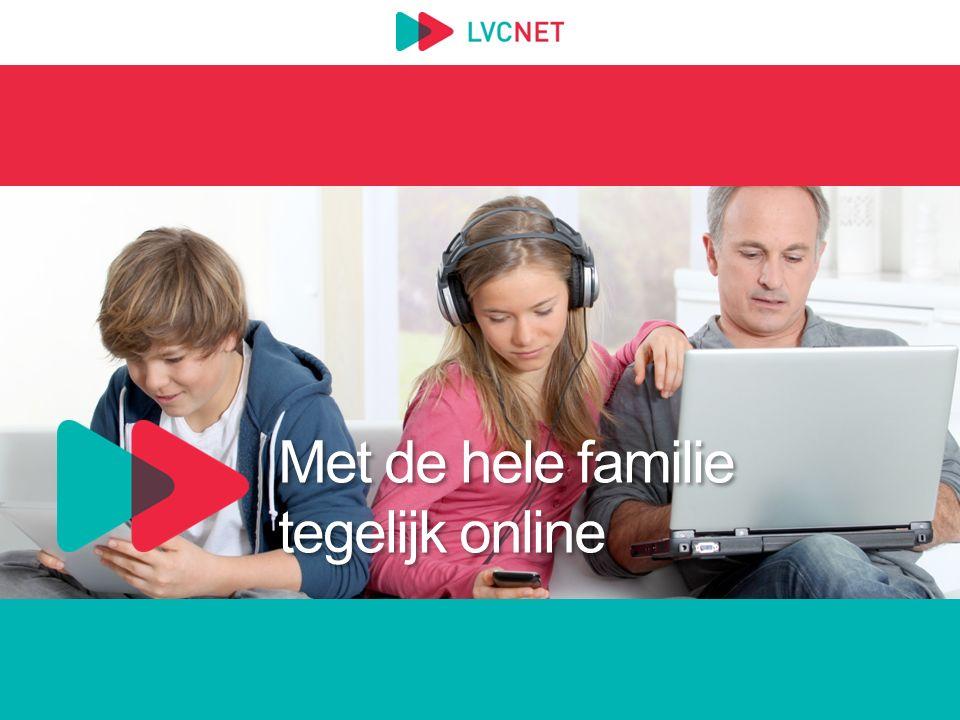 Met de hele familie tegelijk online