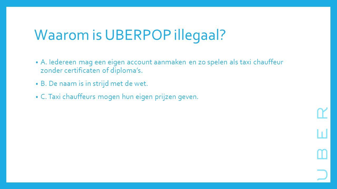 Waarom is UBERPOP illegaal. A.