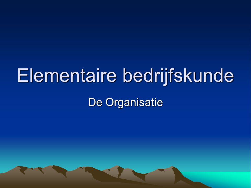Soorten Organisaties Productie-organisatie Handelsorganisatie Dienstverlenende organisatie