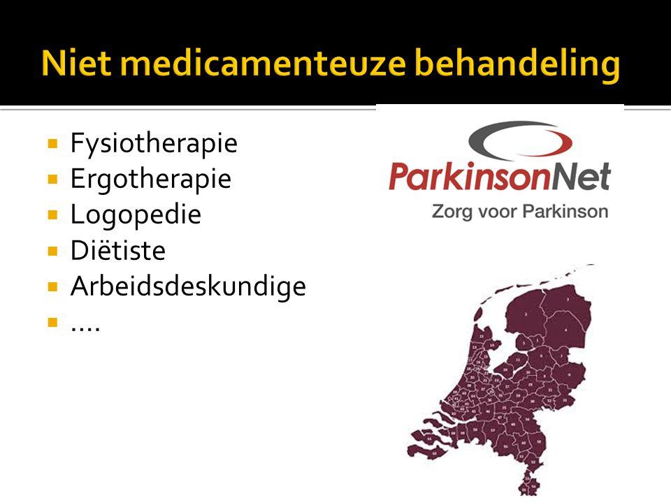  Fysiotherapie  Ergotherapie  Logopedie  Diëtiste  Arbeidsdeskundige  ….