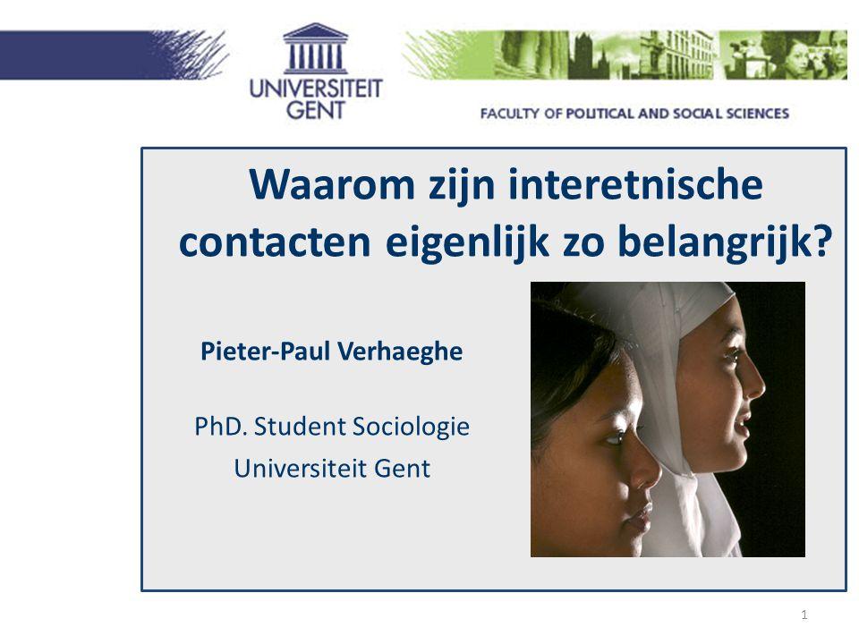 Waarom zijn interetnische contacten eigenlijk zo belangrijk.