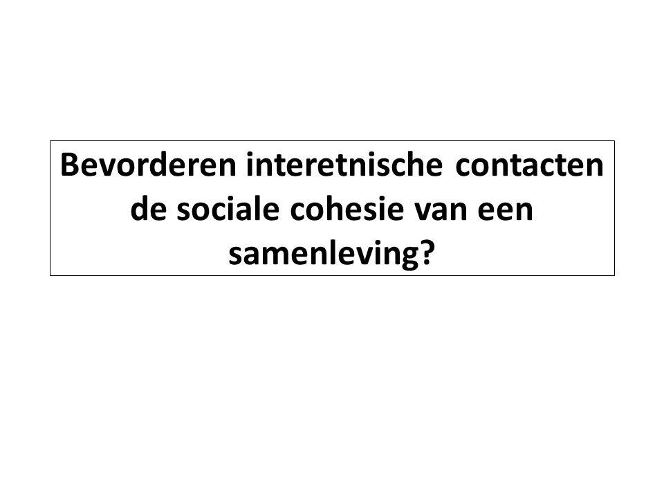 Bevorderen interetnische contacten de sociale cohesie van een samenleving