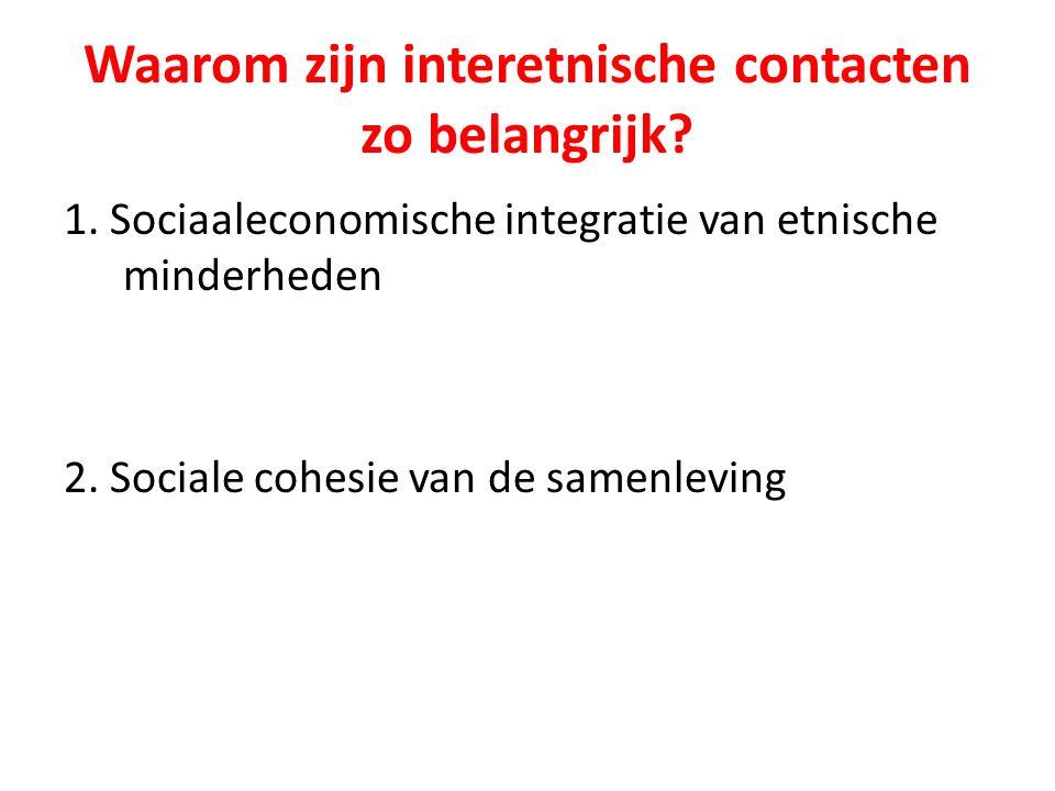 Zijn interetnische contacten beter voor de sociaaleconomische integratie dan intra-etnische contacten?